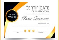 Guinness World Record Certificate Template 74407 Award Certificate Vectors s and PSD files