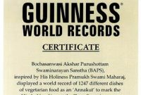 Guinness World Record Certificate Template 7
