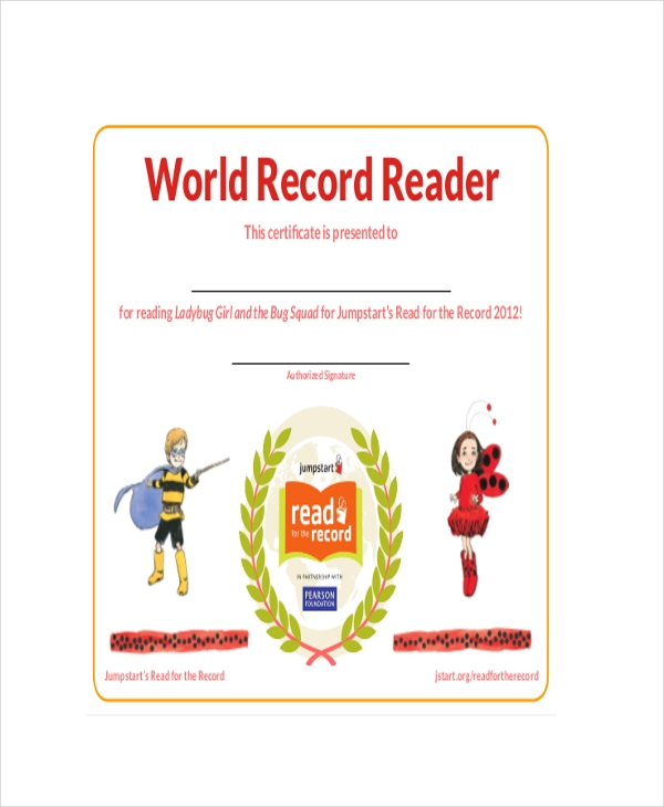 Guinness World Record Certificate Template 8