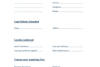 Leaving Certificate Template 4