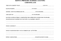 Leaving Certificate Template 5