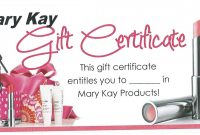 Mary Kay Gift Certificate Template 2