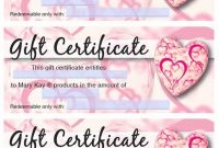 Mary Kay Gift Certificate Template 3