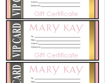 Mary Kay Gift Certificate Template 4
