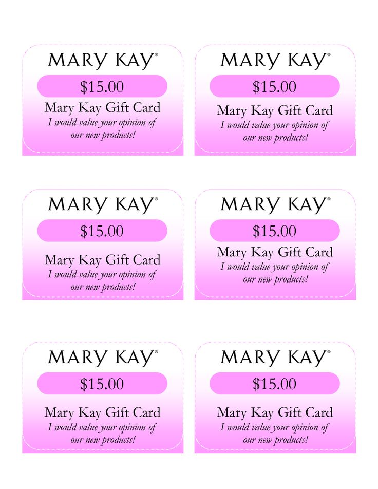 Mary Kay Gift Certificate Template 5
