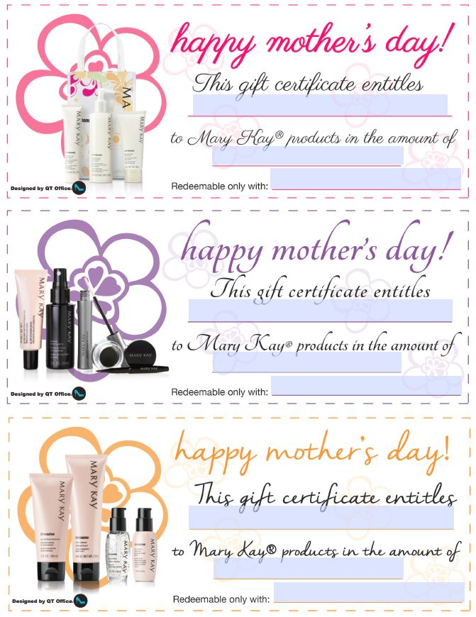 Mary Kay Gift Certificate Template 6