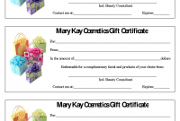 Mary Kay Gift Certificate Template 7