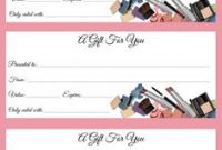 Mary Kay Gift Certificate Template 9