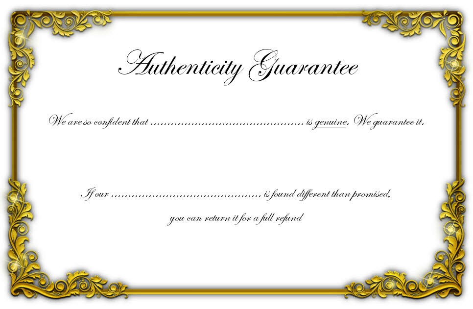 Photography Certificate Of Authenticity Template 10