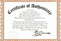 Photography Certificate Of Authenticity Template 11