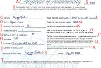 Photography Certificate Of Authenticity Template 4
