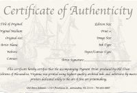 Photography Certificate Of Authenticity Template 8