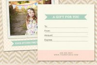 Photoshoot Gift Certificate Template 10