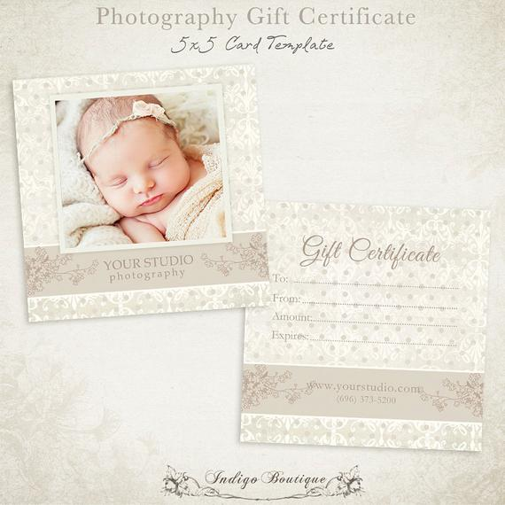 Photoshoot Gift Certificate Template 3