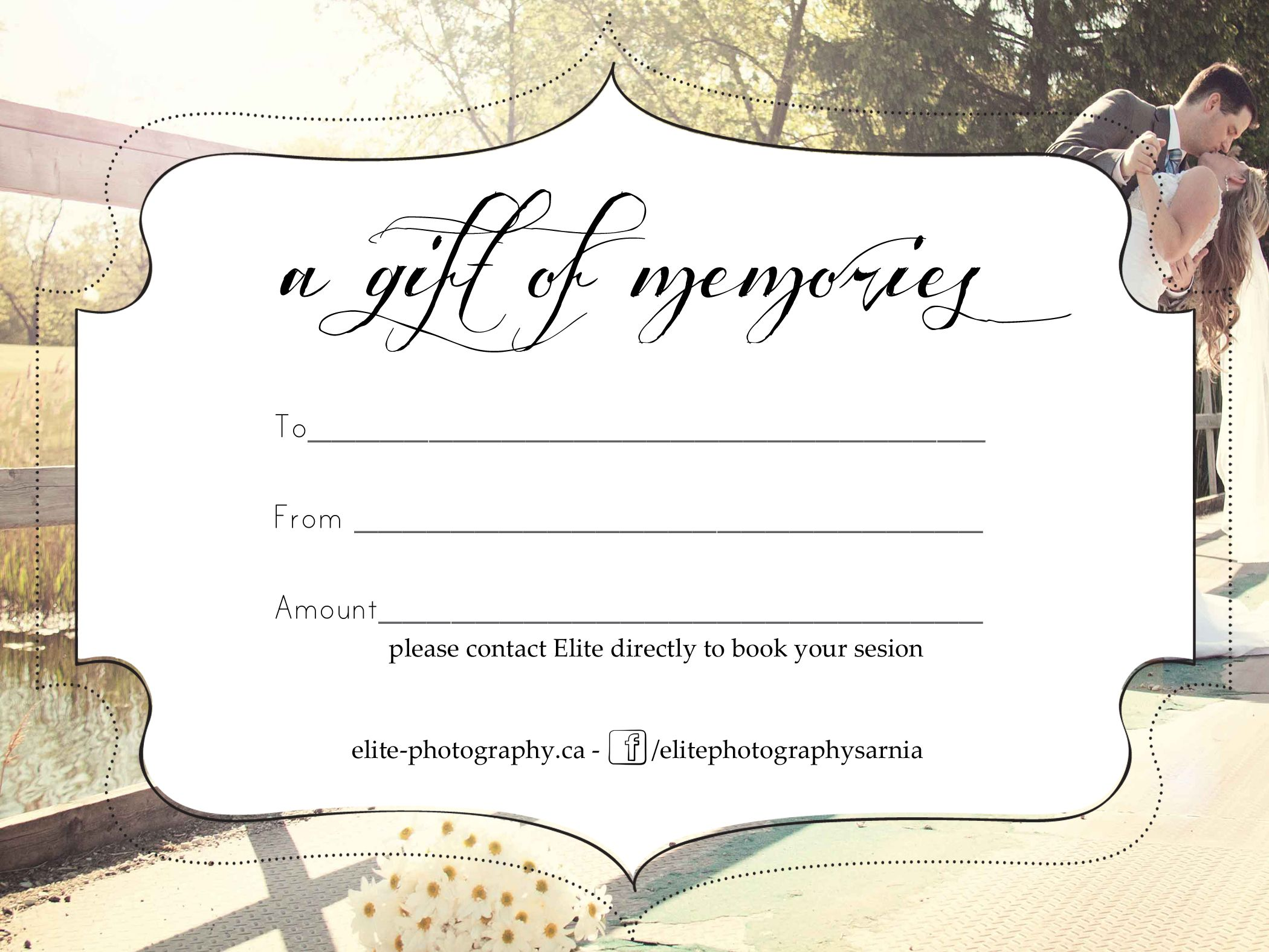 Photoshoot Gift Certificate Template 6