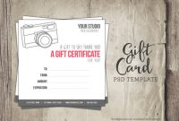 Photoshoot Gift Certificate Template 7