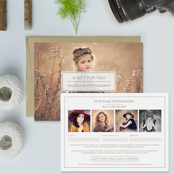 Photoshoot Gift Certificate Template 8