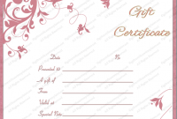 Pink Gift Certificate Template 10