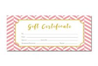 Pink Gift Certificate Template 3