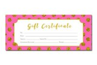 Pink Gift Certificate Template 5