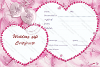Pink Gift Certificate Template 6