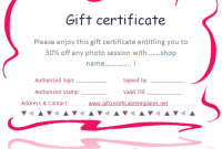 Pink Gift Certificate Template 7