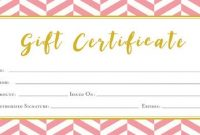 Pink Gift Certificate Template 8