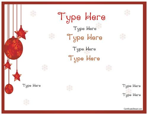 Printable Gift Certificates Templates Free 10