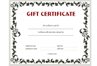 Printable Gift Certificates Templates Free 2
