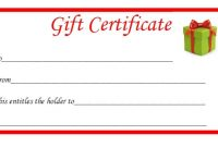 Printable Gift Certificates Templates Free