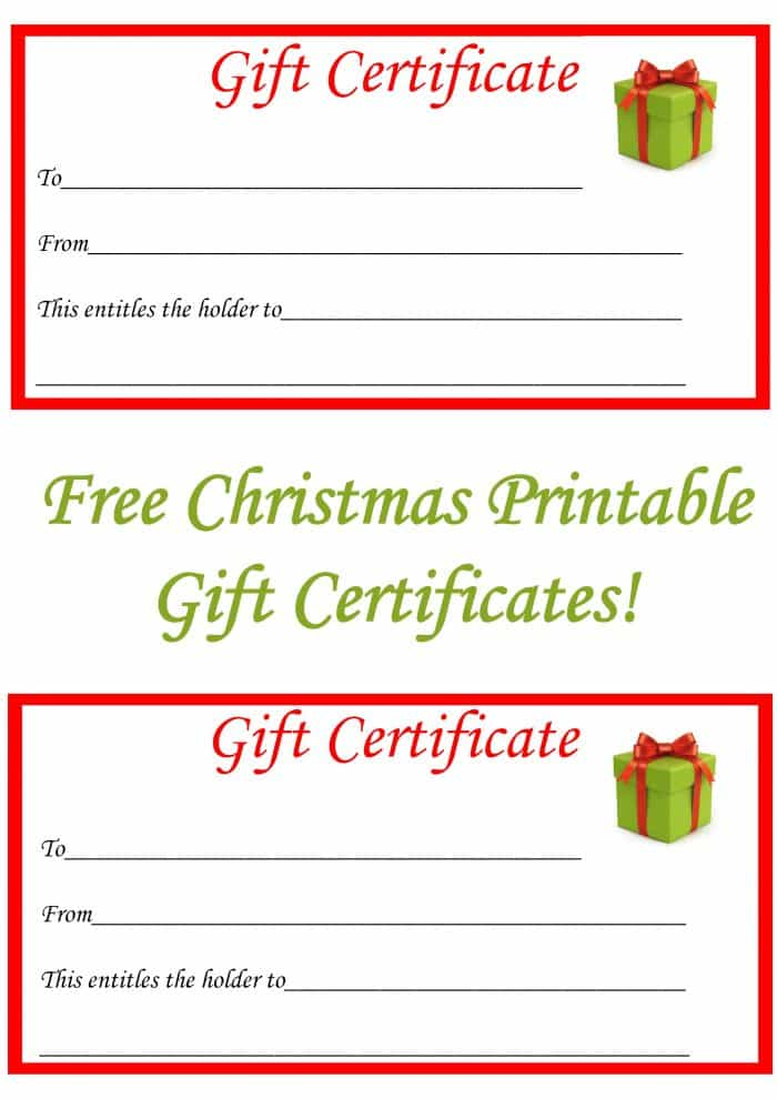 Printable Gift Certificates Templates Free 3