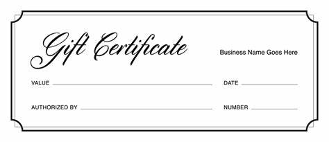 Printable Gift Certificates Templates Free 6