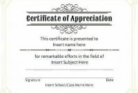 Professional Award Certificate Template 3