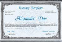 Professional Award Certificate Template 8
