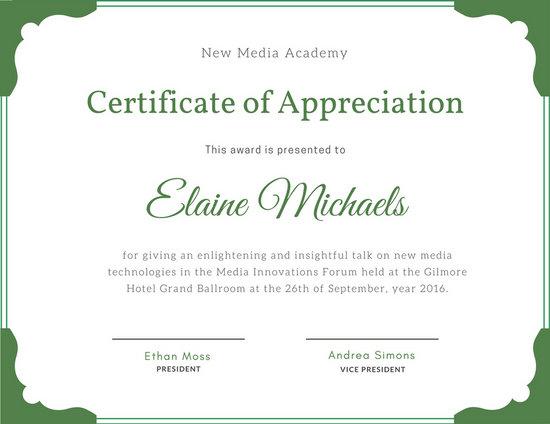 Professional Award Certificate Template
