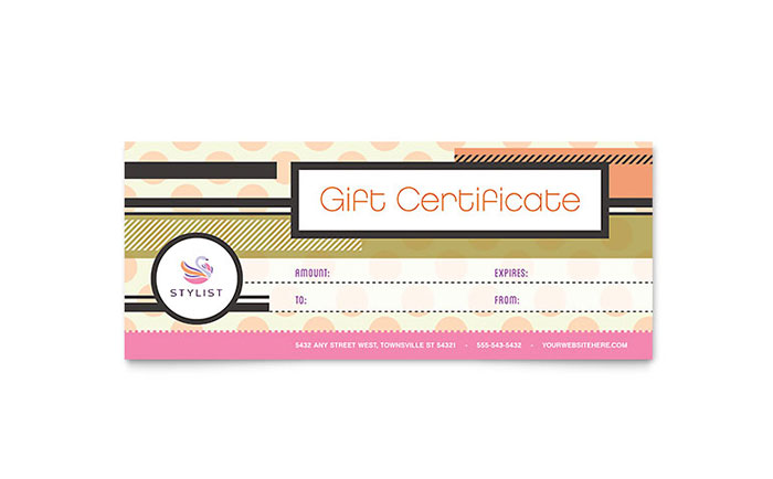 Publisher Gift Certificate Template 8