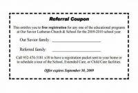 Referral Certificate Template