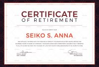 Retirement Certificate Template 10