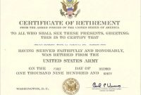 Retirement Certificate Template 3