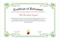 Retirement Certificate Template 4