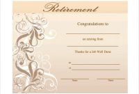 Retirement Certificate Template 5