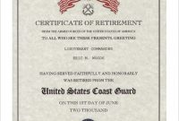Retirement Certificate Template 6