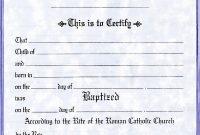 Roman Catholic Baptism Certificate Template 5