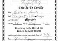 Roman Catholic Baptism Certificate Template 6