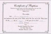 Roman Catholic Baptism Certificate Template 8