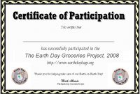Sample Certificate Of Participation Template 10