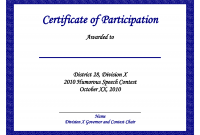 Sample Certificate Of Participation Template 4