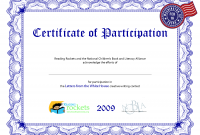 Sample Certificate Of Participation Template 6