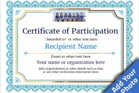 Sample Certificate Of Participation Template 7