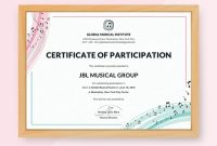 Sample Certificate Of Participation Template 8